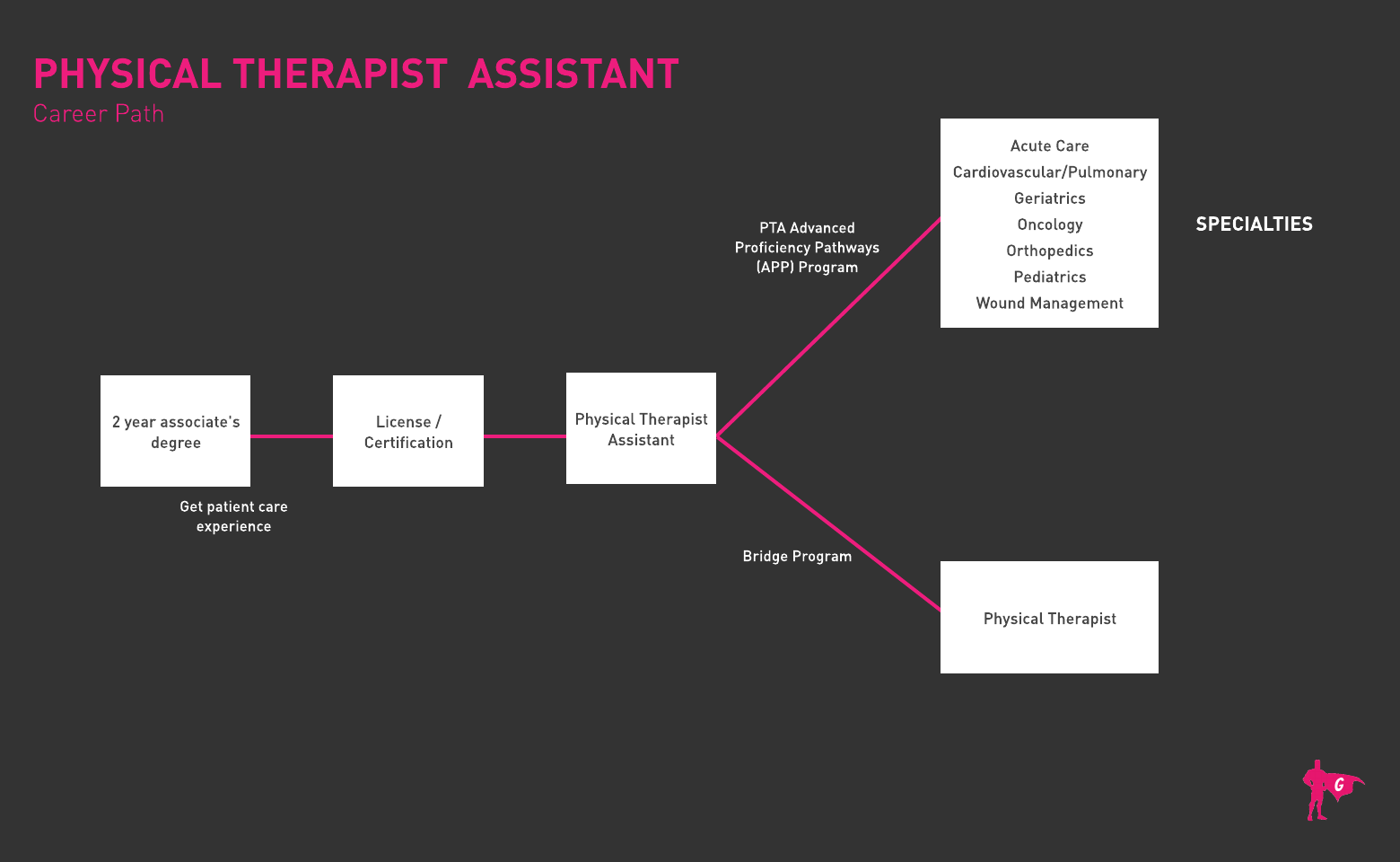 Gladeo Physical Therapist Assistant Roadmap