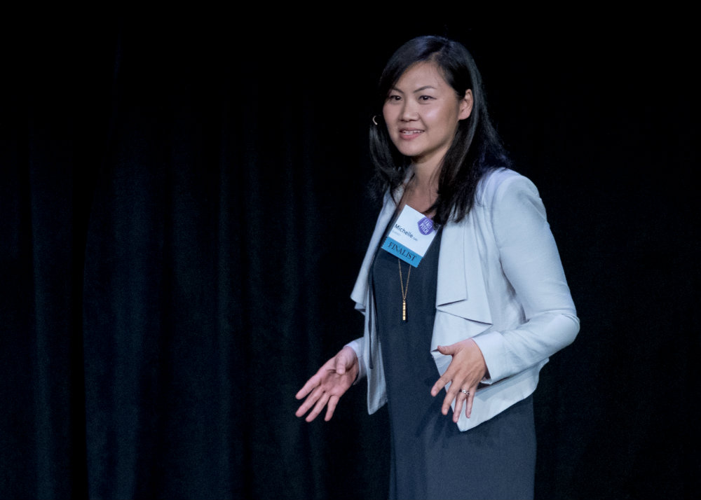 Co-Founder Michelle Cho speaking at SVP 2017