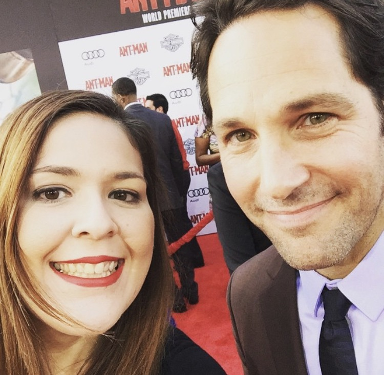 After working on a campaign for Ant-Man, Katherine was invited to the movie's premiere where she snapped this picture with actor Paul Rudd.